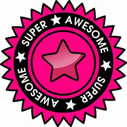 Awesome Super Clipart Badge Word Cliparts Clip