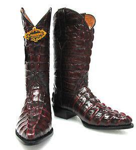 Men Crocodile Alligator Tail Full Leather Cowboy Western