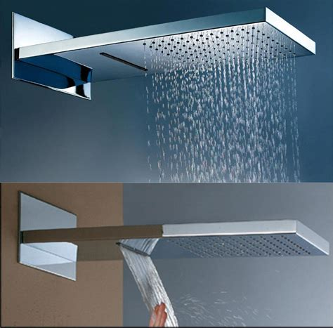 pull spray kitchen faucet 22 quot dualshower waterfall and rainfall function shower in chrome hm 2201 wholesale faucet e