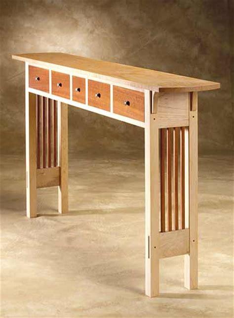 prairie sofa table  chris horney wood sofa hall table artful home