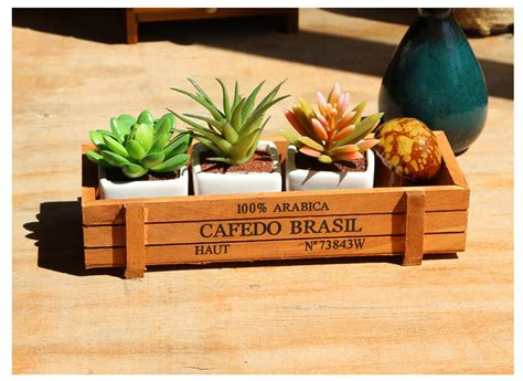 wholesale garden decor wooden flower pots in flower pots