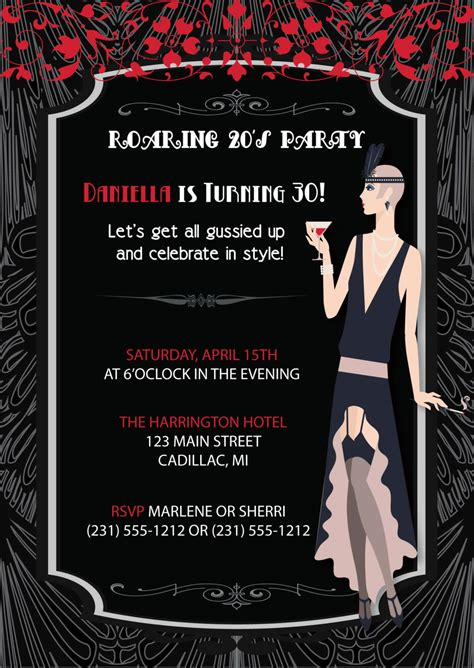 the hangover poster customize template roaring 20 s flapper girl retro invitation adult