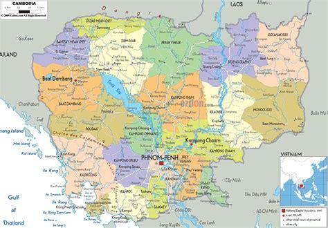 cambodia map hd