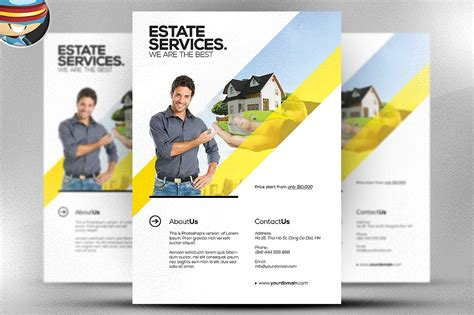 template for a flyer realtor flyer template flyer templates creative market