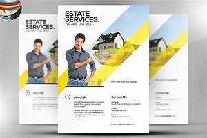 Realtor flyer template flyer templates creative market for Real estate advertisement template