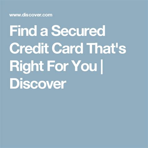 Your activity will be reported to the three major credit bureaus so if you use the card wisely. Find a Secured Credit Card That's Right For You | Discover | Secure credit card, Credit card ...