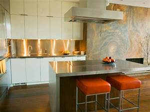 stainless steel countertops hgtv With kitchen colors with white cabinets with metal guitar wall art