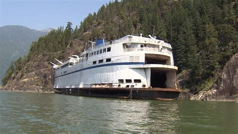 Bc Fire Boat by Locals Worried Derelict Ferry May Break Free From Moorings