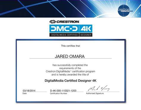 digital media certificate digital media certified designer 4k certificate