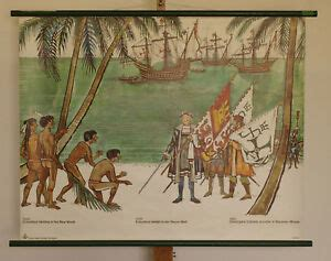 Wall Mural Columbus' discovery of America 1492 100x79cm ...
