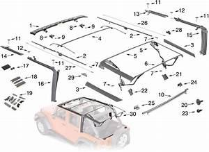 Jeep Wrangler Jk Soft Top Hardware Parts 4 Door