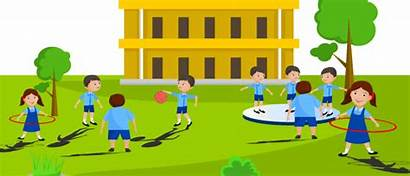 Sports Playing Children Students Facilities Play Fun