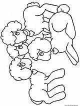 Coloring Lamb Easter Printable Popular sketch template