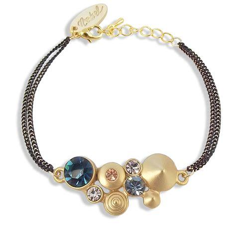 swarovski armband gold damen armband mit kristallen swarovski 174 gold blau