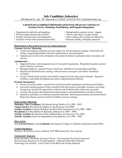 Exles Of Objectives On A Resume For Customer Service by Doc 8491099 Objective In Customer Service Resume Bizdoska