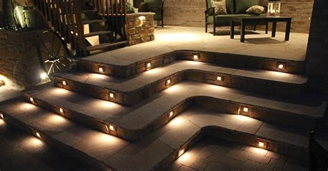 Low voltage concrete step lights   Lighting effects