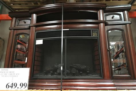 electric fireplace costco ember hearth electric media fireplace costco weekender