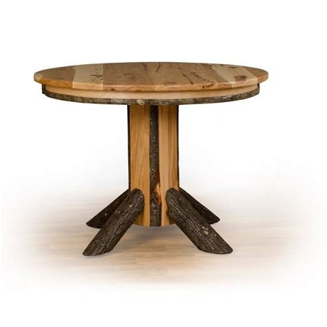 rustic oak round dining table rustic hickory single pedestal round dining table oak or