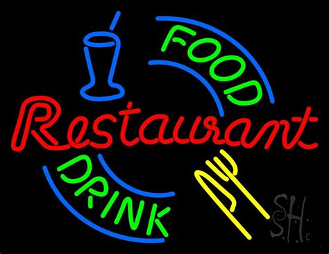 neon cuisine food and drink restaurant logo neon sign restaurant neon