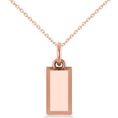 Gold Bar Pendant Necklace 14k Rose Gold  Ad5087. Arrow Rings. Ball Diamond. Berber Necklace. Prasiolite Rings
