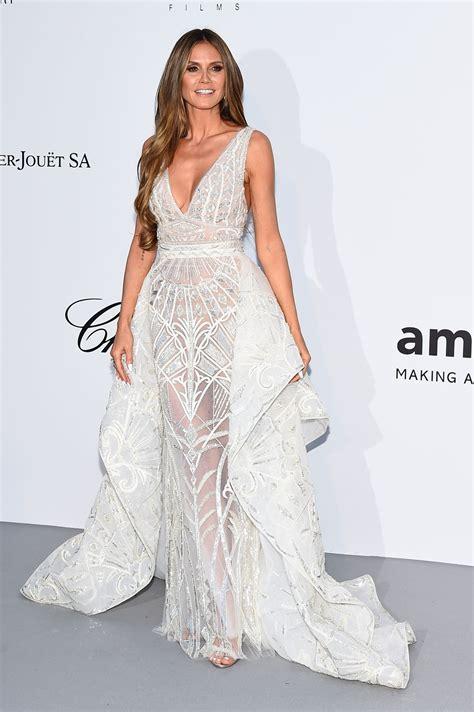 Heidi Klum Amfar Cinema Against Aids Gala Cannes