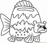 Coloring Sea Bear Spongebob Pages Sponge Angry Squarepants Printable Getcolorings Coloringpages101 Cartoon sketch template