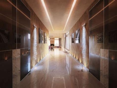 boden für wohnung lichteffekte wohnung penthouse flur gestaltung marmor boden decken wanddesign penthouse