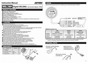 Daytona Digitaler Tacho Mit Drehzahlmesser  Velona