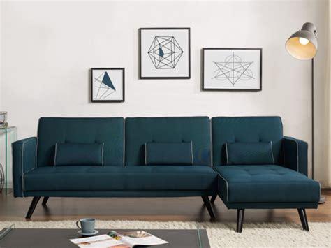 canapé convertible bleu canard canapé modulable et convertible tissu bleu canard calobra