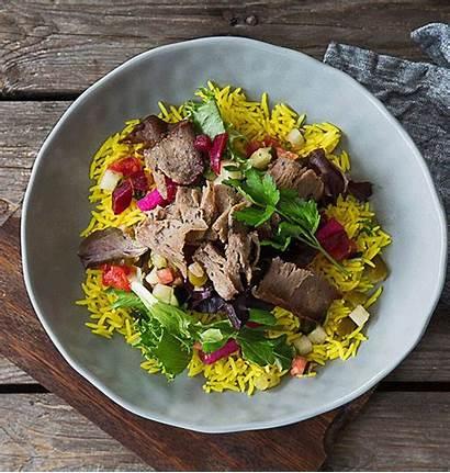 Irvine Mediterranean Sajj Rice Salad Bowl Comes