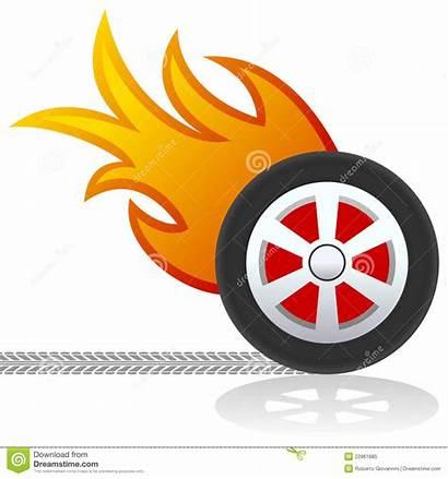 Flames Wheel Clip Wheels Clipart Vector Background