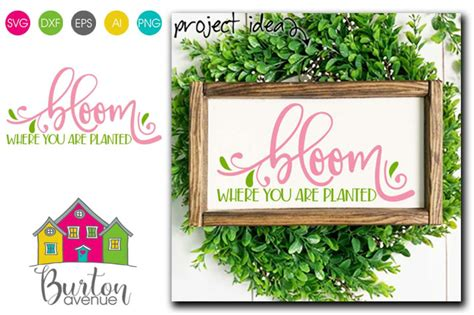 Your preferences will apply to this. Bloom Where You are Planted - SVG file for Spring By ...