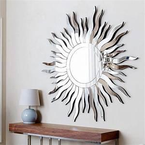 Abbyson living sol round wall mirror