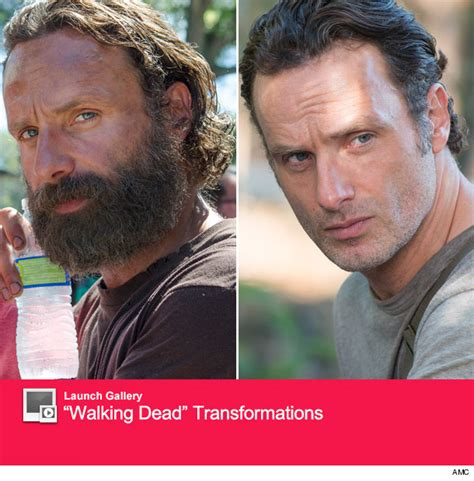 rick grimes shaves see quot the walking dead quot andrew