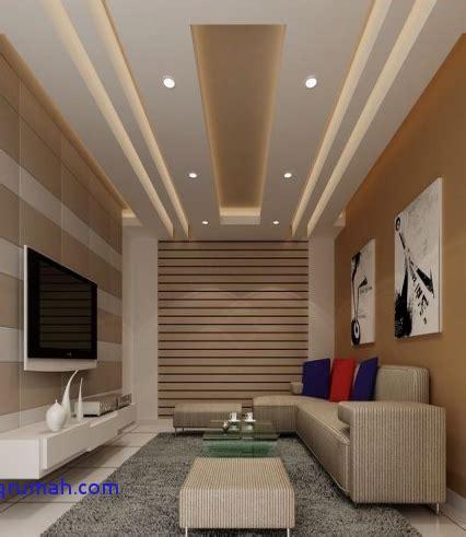 model plafon ruang tamu kecil sederhana bergaya