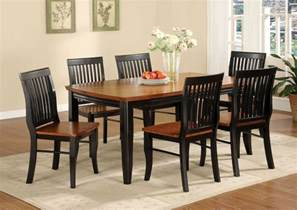 Mission Style Dining Room Set Black And Brown Painted Oak Mission Style Dining Room Set With Rectangle Wooden Dining Table And