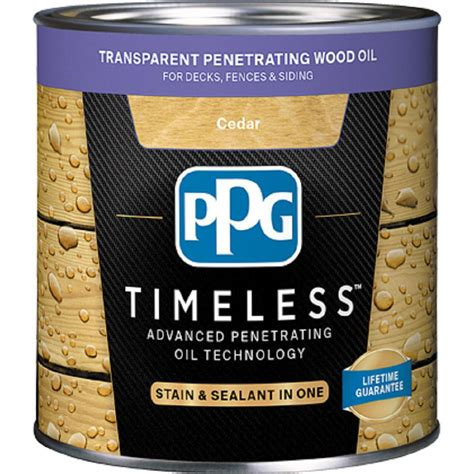 ppg timeless  gal tpo  cedar transparent penetrating