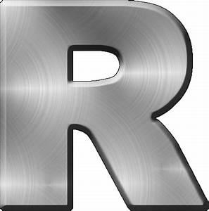 presentation alphabets brushed metal letter r With steel letters