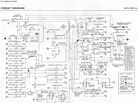 reliant spares and parts wiring diagrams