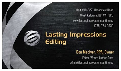 'lasting Impressions Editing' Launches Global Professional Business Card Wallet Cards Behance Young Living Real Estate Huntsville Al Montreal Holder Plastic For Sale
