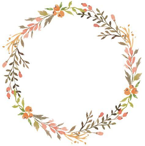 Floral Wreath Watercolor Transparent Decorative