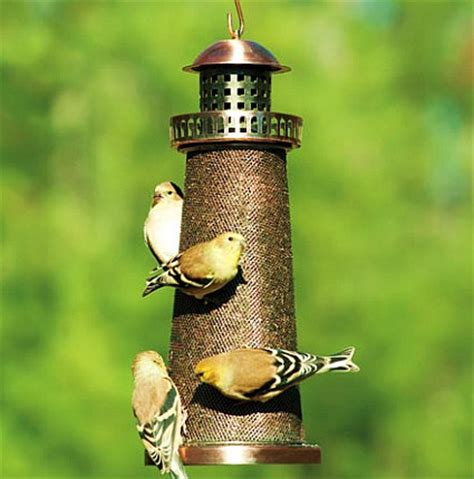 bronze color metal lighthouse finch seed bird feeder best