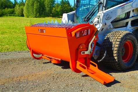 skid steer attachment cement mixer  bobcat style loaders ebay