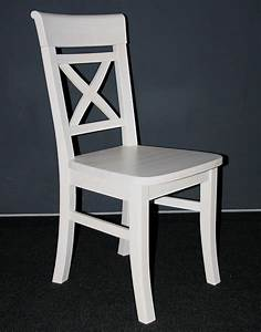 Weisse Esstisch Stühle : massivholz stuhl wei lasiert kiefer holzstuhl k chenstuhl ~ A.2002-acura-tl-radio.info Haus und Dekorationen
