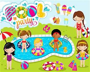 pool party clipart Etsy - Clip Art Library