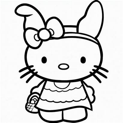 Kitty Hello Coloring Pages Easter