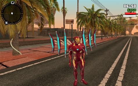 gta san andreas iron man mark  mod gtainsidecom