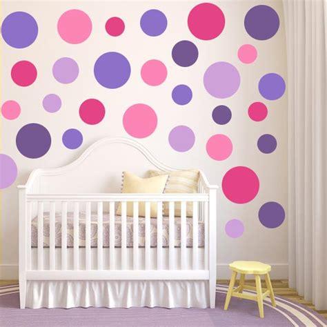 pink dot wall decals purple polka dot wall decals