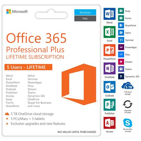 Office 365 Purchase by Microsoft Office 365 Pro Plus Lifetime Account 5 User Pc