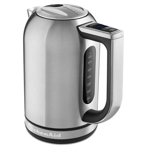 Kitchen Living Tea Kettle by Kitchenaid Brushed Stainless Steel 7 Cup Electric Tea